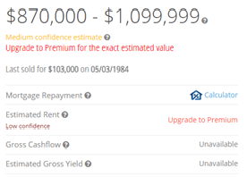 Property Value is CoreLogic's (formerly RP Data)