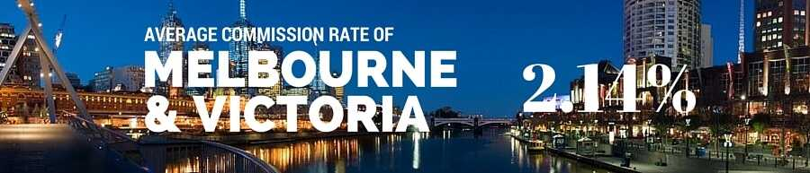 Melbourne and Victoria Real Estate Agent Commission Rate
