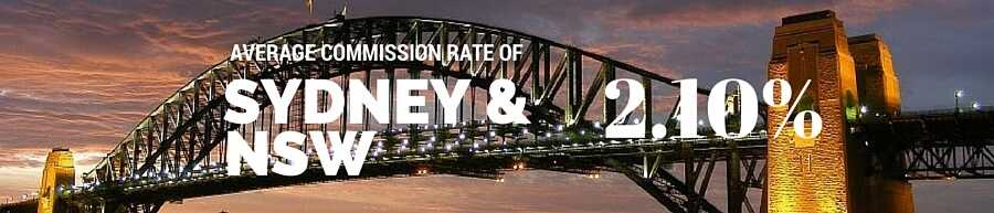 Average commission of 2.10% in NSW