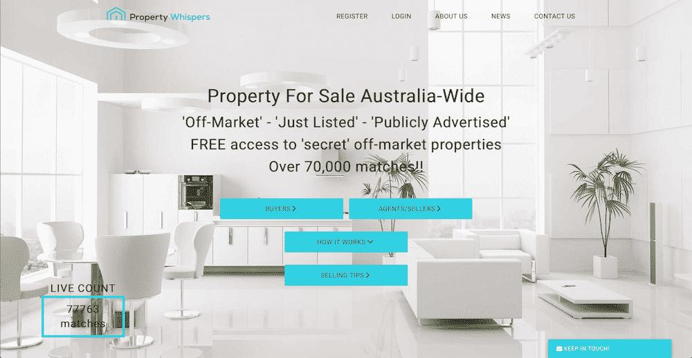 Off-market property website - Property Whispers