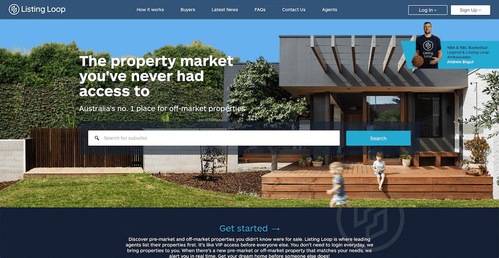 Off-market property websites - Listing Loop